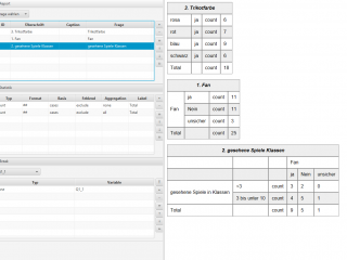 Reportdesigner (Erstellung eines Tabellenbandmit einem Klick ohne Programmierung möglich)
