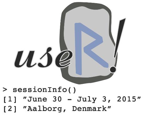Das Logo der useR! 2015 in Aalborg