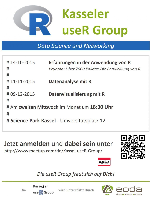 Die kommenden Termine der Kasseler useR Group