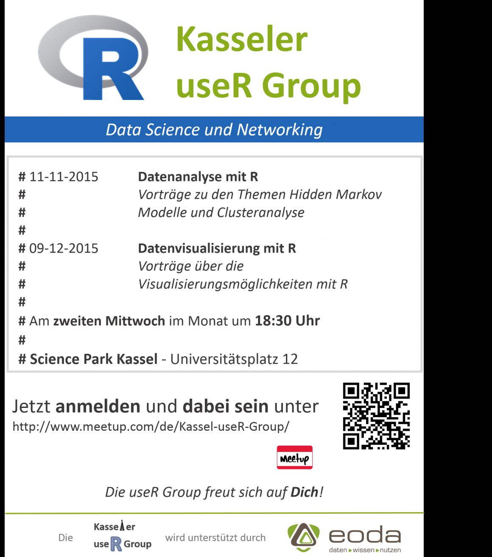 Datenanalyse mit R ist das Thema im nächsten Meetup der Kasseler useR Group