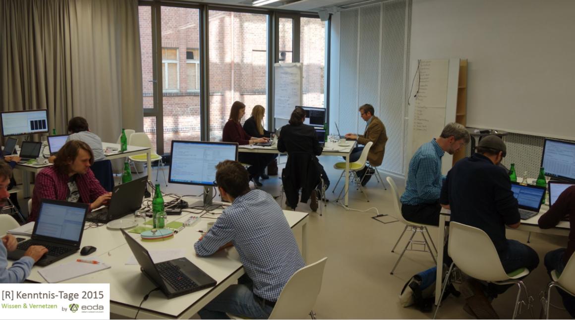 Produktives Arbeiten beim R-Workshop.
