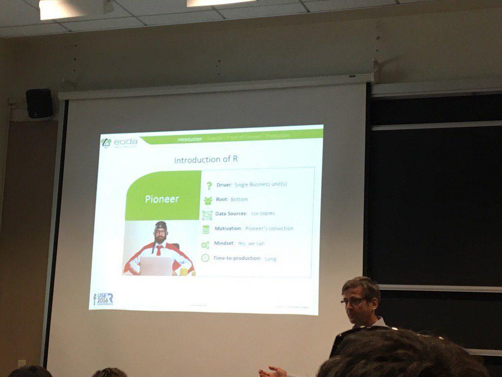Oliver Bracht, Chief Data Scientist bei eoda, stellt die unterschiedlichen Einführungsstrategien von R im Unternehmen vor.