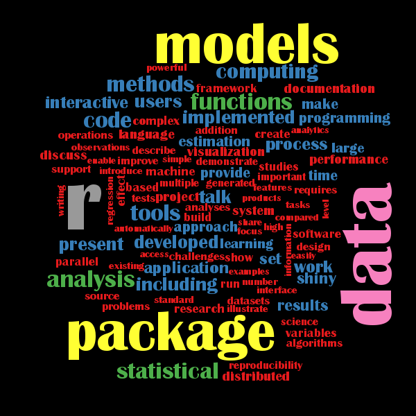 Word Cloud with the top Keywords of the useR! 2016