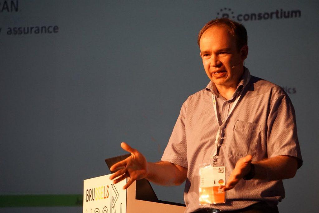 Uwe Ligges während seiner Keynote.