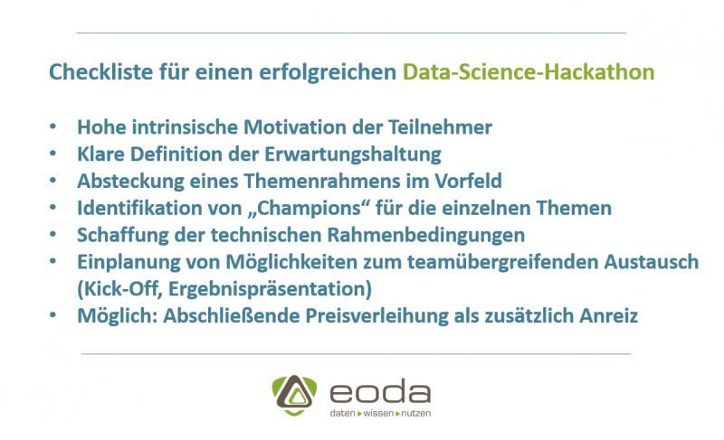 Checkliste für einen Data Science Hackathon