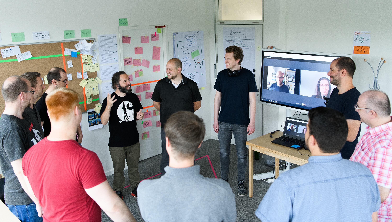 Daily Meeting der eoda Softwareentwicklung