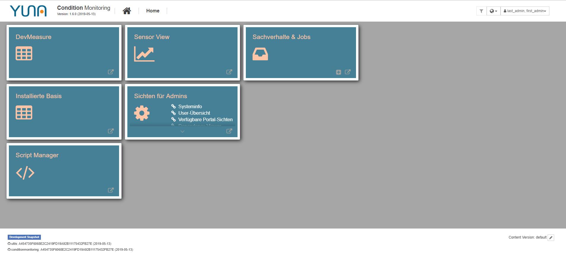 analytik software admin dashboard