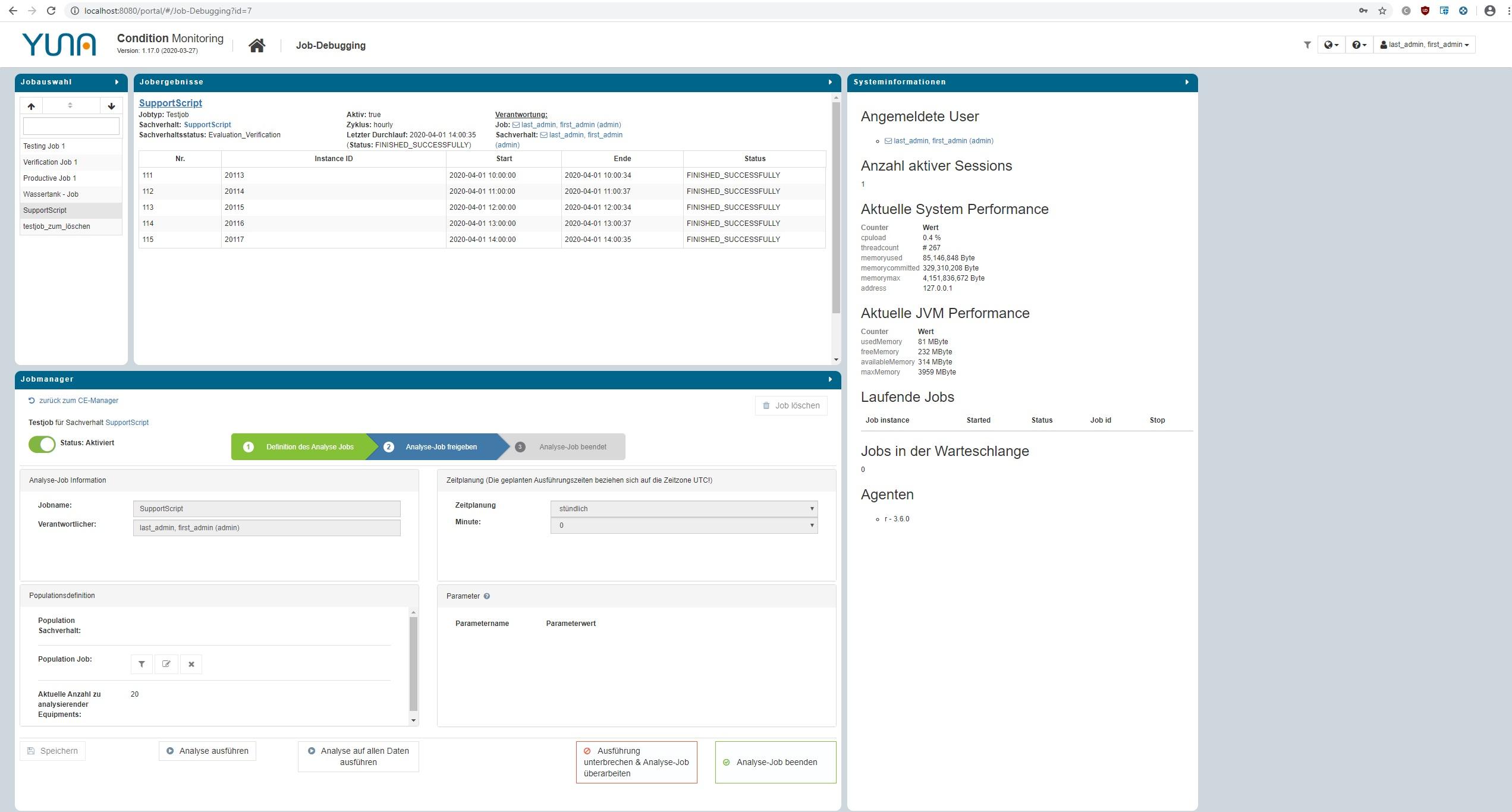 dashboard data science plattform yuna data analytics jobs