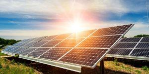 Solaranlage in der Sonne