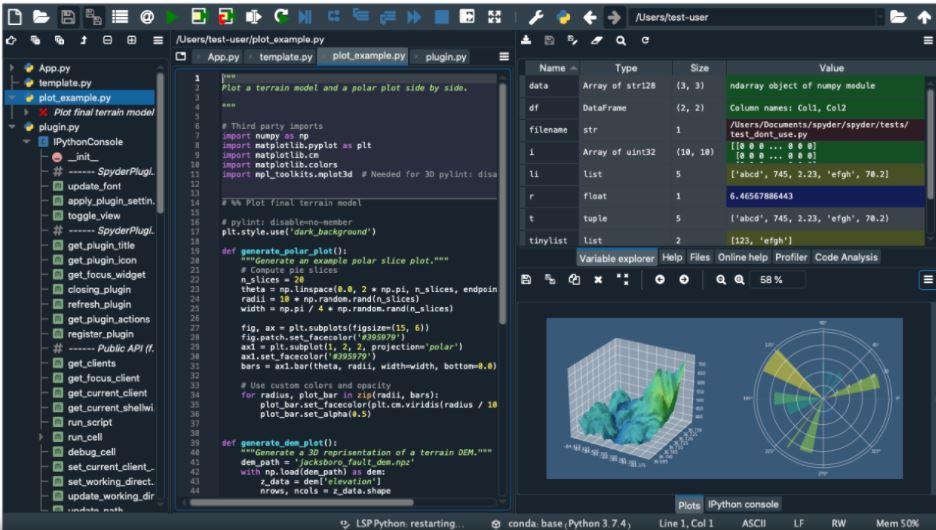Screenshot Spyder IDE
