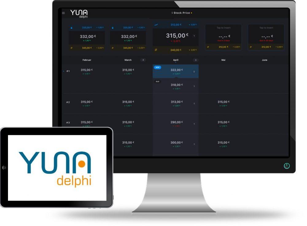 Screenshot und Logo von YUNA delphi