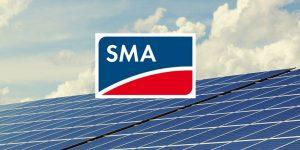 Solaranlage und Firmenlogo
